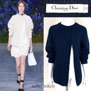 クリスチャンディオール(Christian Dior)のディオール《カシミヤ100%》ケーブル編み ニット ラフシモンズ期 E1874(ニット/セーター)