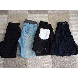 エムピーエス(MPS)の美品 アルジー MPS グンゼ 130 スカート デニム パンツ 4枚 セット(スカート)