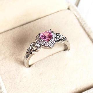 18号AAAピンクCZダイヤモンド(リング(指輪))