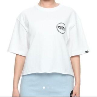 ヴァンズ(VANS)の新品未使用 Vans クロップド ロゴTシャツ size M バンズ vans(Tシャツ(半袖/袖なし))