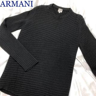 アルマーニ コレツィオーニ(ARMANI COLLEZIONI)のARMANI デザインニット セーター 濃グレー 48(ニット/セーター)