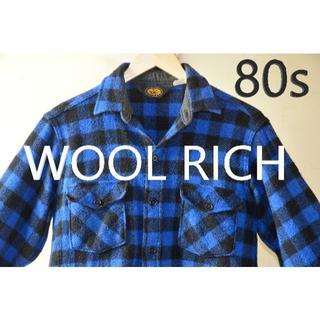 ウールリッチ(WOOLRICH)の80sUSA製 ウールリッチ チェック柄ウールシャツジャケット(ブルゾン)