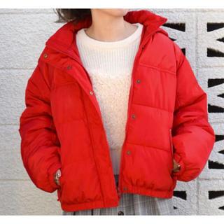 w closet - 【美品】w closet ダウンジャケット/赤 フード有