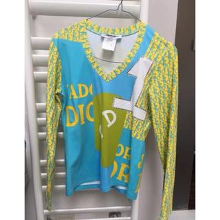 クリスチャンディオール(Christian Dior)のレア Dior ディオール モノグラム Tシャツ 38 イエロー ガリアーノ(Tシャツ(長袖/七分))