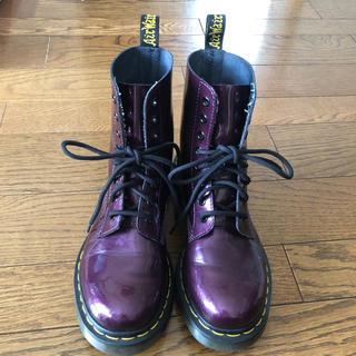 ドクターマーチン(Dr.Martens)のドクターマーチン8ホールUK5パープル(ブーツ)