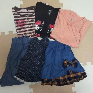 UNIQLO - 130cm女の子 まとめ売り Tシャツ3枚 キュロット3枚セット