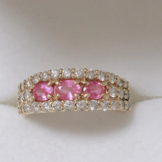 ピンクサファイヤリング(リング(指輪))