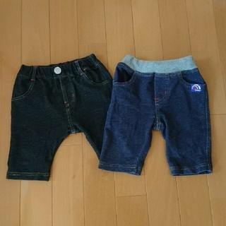 半ズボン 90㎝ 二枚セット 短パン キッズ(パンツ/スパッツ)