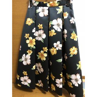 デビュードフィオレ(Debut de Fiore)のデビュードフィオレ新品未使用花柄スカート(ひざ丈スカート)