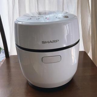 シャープ(SHARP)のシャープ ヘルシオ ホットクック1L ホワイト KN-HW10E-W 保証あり(調理機器)