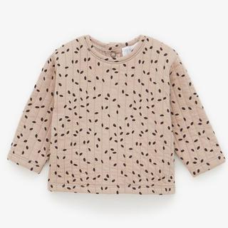 Bonpoint - zara babyプリント柄キルティングスウェットシャツ美品