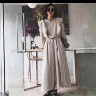 アメリヴィンテージ(Ameri VINTAGE)のFRONT PLEATS LONG DRESS ameri(オールインワン)