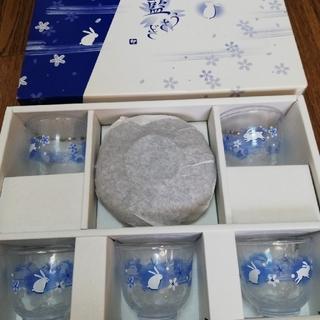 トウヨウササキガラス(東洋佐々木ガラス)の冷茶セット 5セット(食器)