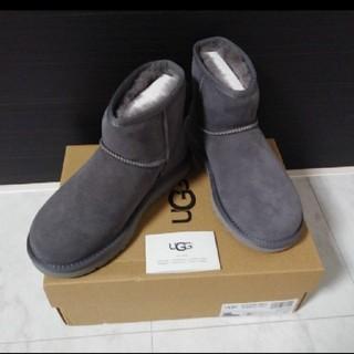 アグ(UGG)の新品 UGG クラシックミニ Ⅱ 最新 グレー 23㎝ アグ ムートンブーツ(ブーツ)