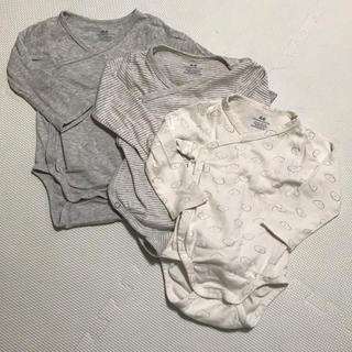 エイチアンドエム(H&M)のH&M 前開き 長袖ボディスーツ 3枚セット(肌着/下着)