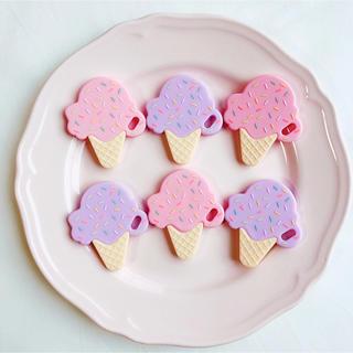 ジェラートピケ(gelato pique)の歯固め アイスクリーム パープルピーナッツ 新品未使用未開封(知育玩具)