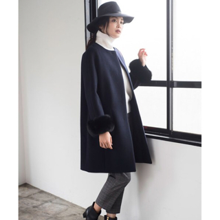 ANAYI - アナイ ダブルビーバーファー付きコート