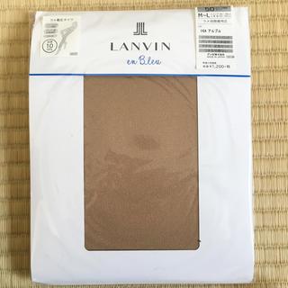 ランバンオンブルー(LANVIN en Bleu)の新品 ランバンオンブルー 50デニール タイツ 無地 ベージュ ③(タイツ/ストッキング)