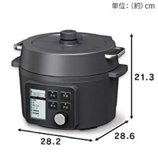 アイリスオーヤマ(アイリスオーヤマ)の新品 アイリスオーヤマ 圧力鍋 2.2L ブラック KPC-MA2-B(調理道具/製菓道具)