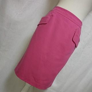 エポカ(EPOCA)の美品 エポカ 落ち着いたコスモスピンクの素敵なコットン素材スカート サイズ40(ひざ丈スカート)