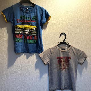 ミッキーマウス(ミッキーマウス)のTシャツ2枚セット 120センチ ミッキーマウス(Tシャツ/カットソー)