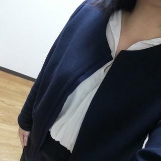 RU - RU 紺 ノーカラージャケット