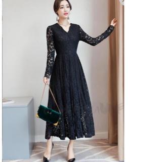 黒ドレス(ロングドレス)