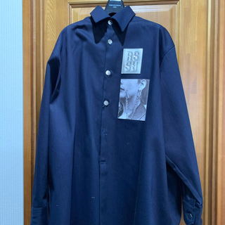 RAF SIMONS - 19SS Big fit shirt with Two Patches