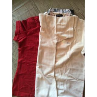 BURBERRY - バーバリーポロシャツ  赤ベージュ