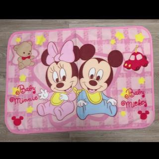 ディズニー(Disney)の最終価格 ベビーミッキー&ミニー 膝掛け 毛布(毛布)