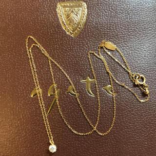 アガタ(AGATHA)のagete k18 0.1カラットダイヤモンドネックレス(ネックレス)