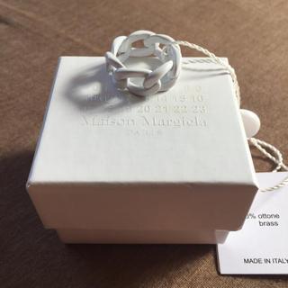 マルタンマルジェラ(Maison Martin Margiela)のL新品 メゾンマルジェラ ペイント チェーンリング 指輪 メンズ(リング(指輪))
