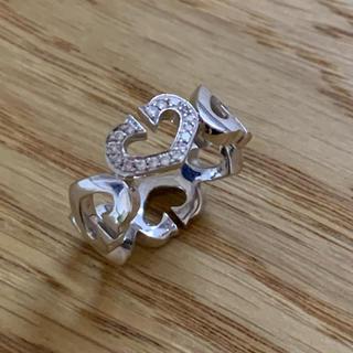 カルティエ(Cartier)のK18 カルティエ  ハート ダイヤモンド リング (リング(指輪))