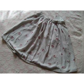 アプワイザーリッシェ(Apuweiser-riche)のアプワイザー・リッシェ☆刺繍が素敵なスカート0グレージュ系☆(ミニスカート)