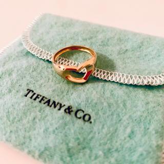 ティファニー(Tiffany & Co.)の【美品】Tiffany ティファニー オープンハート リング 18k ゴールド(リング(指輪))