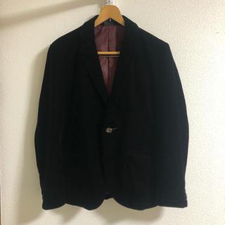 マルタンマルジェラ(Maison Martin Margiela)の黒 ベロア テーラードジャケット Lサイズ(テーラードジャケット)