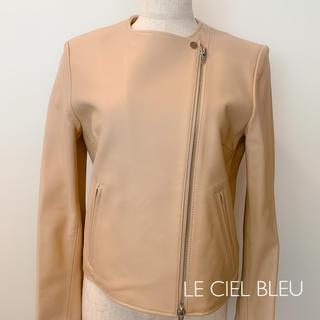 ルシェルブルー(LE CIEL BLEU)のルシェルブルー レザージャケット(ノーカラージャケット)