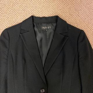 インディヴィ(INDIVI)のジャケット 黒(テーラードジャケット)