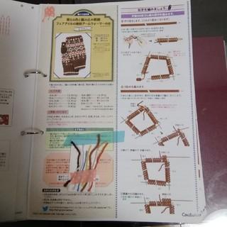 フェリシモ(FELISSIMO)のフェアアイルのアームウォーマー レシピと糸端(型紙/パターン)