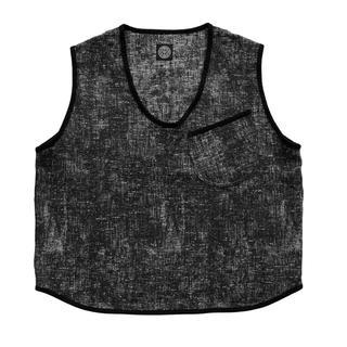 ポーター(PORTER)の【新品サイズ3】PEELED CLOTH PULLOVER VEST BLACK(ベスト)