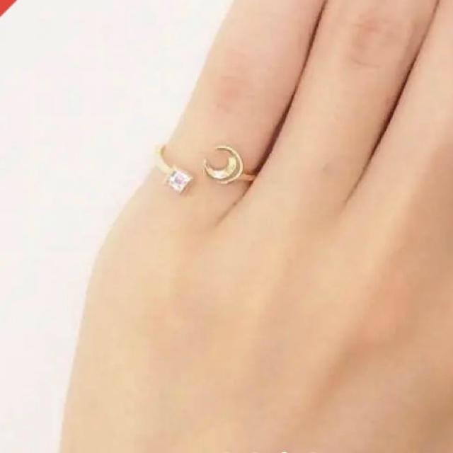 Enasoluna(エナソルーナ)のエナソルーナ 佐田真由美 ピンキーリング 5号 YG レディースのアクセサリー(リング(指輪))の商品写真