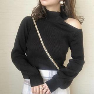 試着のみ node  one shoulder knit即購入可能(ニット/セーター)