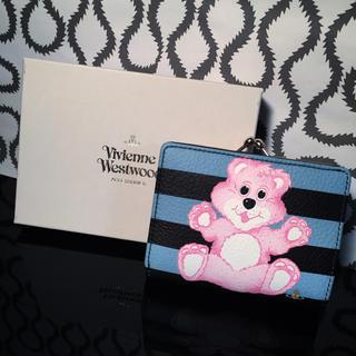 ヴィヴィアンウエストウッド(Vivienne Westwood)の今期新作 テディベアプリント二つ折り財布(財布)