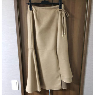グレースコンチネンタル(GRACE CONTINENTAL)の未使用 グレースコンチネンタル  フレアラップスカート2019aw 今季(ロングスカート)