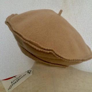 レイビームス(Ray BEAMS)のRay beams Lolaインポートウールデザインベレー帽 ベージュ(ハンチング/ベレー帽)