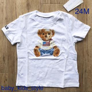 Ralph Lauren - ベビーベア Tシャツ 白 90