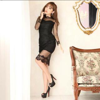 デイジーストア(dazzy store)のDazzy♡総レースシアータイトドレス 新品(ミディアムドレス)