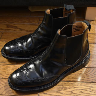チャーチ(Church's)のチャーチ ウイングチップ サイドゴアブーツ KETSBY 8.5F ブラック(ブーツ)
