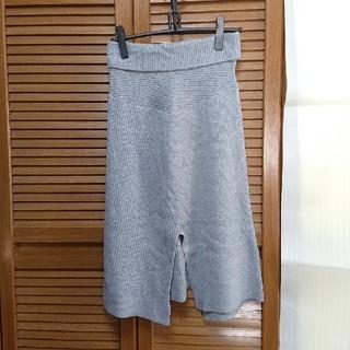 スライ(SLY)のⅡ スライ ニット スカート グレー(ひざ丈スカート)
