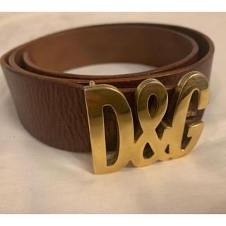ディーアンドジー(D&G)のD&G レザーベルト 茶色 DOLCE&GABBANA メンズ レディース(ベルト)